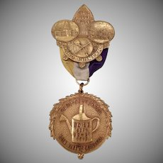 Vintage 1913 Rainmaker's Carnival Medal – Idaho Semi-Centennial Commemorative