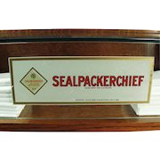 Vintage Counter Display Case - Original Sealpackerchief Handkerchief Advertising Decals