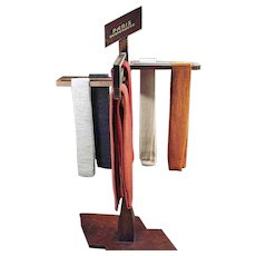 Vintage Advertising Display - Paris Suspenders - Old Wood Display Rack