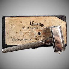 Vintage Safety Razor - Old Clauss Never Fail with Original Box