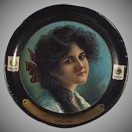 Vintage Tip Tray - Old Smith Wallace Shoes Advertising - Pretty Woman