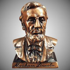 Vintage Penny Bank -  Abraham Lincoln Bust - Old Figural Coin Bank