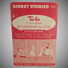 Vintage Tru-Vue 3-Dimensional Slides - Disney Stories - Pinocchio and Peter Pan