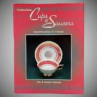 Old Reference Book - Collectible Cups & Saucers - Jim and Susan Harran - Paperback