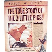 Old Storybook - The True Story of the Three Little Pigs - Fun Vintage Book for All Ages