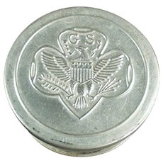 Vintage Girl Scout Folding Aluminum Cup - Old Girl Scout's Emblem