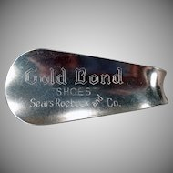Vintage Gold Bond Shoes Advertising Shoe Horn – Sears Roebuck