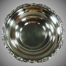 Vintage Silver Plate Serving Bowl - Old Candy Dish - Ornate Edge