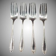 Vintage Sterling Silver Salad Forks – Set of 4 - Towle Godroon Pattern