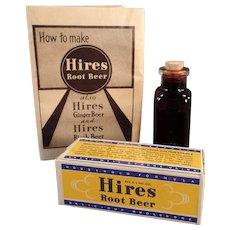 Vintage Hires Root Beer Extract - Old Hires R.B. Advertising Sample - Original Packaging