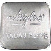 Vintage Aluminum  Advertising Tin - Huyler's Italian Pepps - Early 1900's
