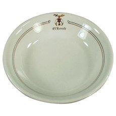 Vintage Restaurant China - Old El Korah Shrine Dessert Bowl
