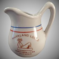 Vintage Restaurant China Creamer - Old Mayaland Lodge Yucatan Cream Pitcher