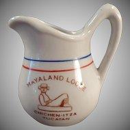 Vintage Restaurant China Creamer - Old Mayaland Lodge Yucatan Cream Pitcher