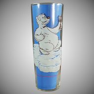 Vintage Soda Glass - Old Richardson Freeze Advertising Glass - Cool Off Polar Bear
