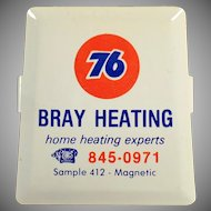 Vintage Paper Clip - Old Union 76 Oil Advertising - Bray Heating