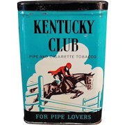 Vintage Tobacco Tin - Old Kentucky Club Pipe and Cigarette Tobacco Can