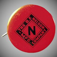 Vintage Celluloid Tape Measure - Old Nelson Roofing Advertising Item