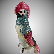 Vintage Flower Frog - Colorful Old Bird with Long Tail Feathers - Nice Colors
