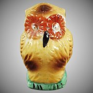 Unusual Vintage Bird Feeder - Colorful Old Owl Bird Cage Accessory