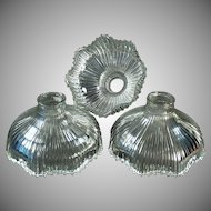 Set of 3 Vintage Light Shades - Small Neck Franklin 1905 Shades