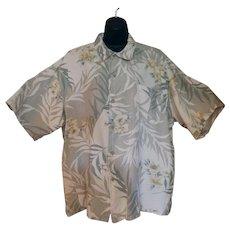 Vintage Hawaiian Style Casual Shirt – Hibiscus Flower Design - Majestic – Size XXL