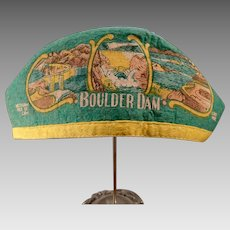 """Vintage Felt Souvenir Cap – Old Hat from Boulder Dam with """"I'm from Idaho"""""""