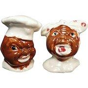 Vintage Black Memorabilia S-P - Old Mammy and Chef Salt and Pepper Set