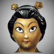 Vintage Incense Burner - Oriental Girl - Old Porcelain Novelty Made in Germany