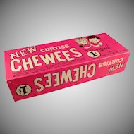 Vintage Candy Box - Old 1c Curtiss Chewees Box - 1960's Penny Candy Box
