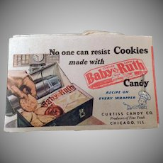 Vintage Baby Ruth Candy and Kleenex Advertising – Old Lipstick Tissues with Cookie Recipe
