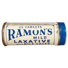 Vintage Medicine Tin – Old Ramon's Laxative with Bile Salts Tin – The Little Doctor