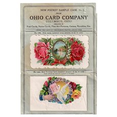Vintage Sample Pocket Case -Old Ohio Card Company Dealer Sample Packet