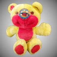 Old Playskool Nosy Bear – Colorful Teddy Bear with Action Nose
