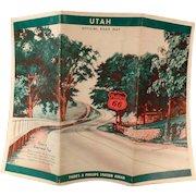 Vintage Phillips 66 Road Map – Old 1940 Utah State Map