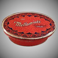 Vintage Sample Candy Tin - Old Brandle Smith Mellomints Tin