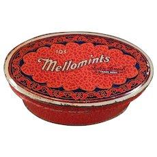 Vintage Sample Candy Tin - Old Brandle Smith Mellomints Tin