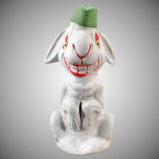 Vintage German Candy Container – Silly White Easter Rabbit C.C.