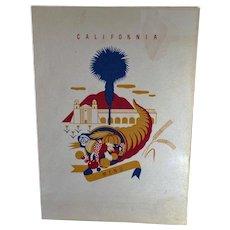 Vintage S.S. President Harrison Menu - Old American President Lines - California - 1940
