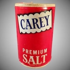 Vintage Salt Box - Old Carey Salt Box from Hutchinson, Kansas
