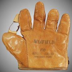 Child's Vintage Baseball Mitt - Old Leather Winfield  F33