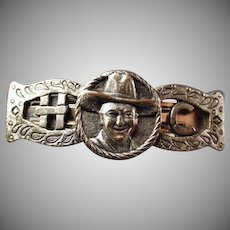 Vintage Hopalong Cassidy Memorabilia - Old Metal Clip for Hair or Kerchief