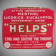 Vintage Medicine Tin -  Helps Tin from the National Licorice Company