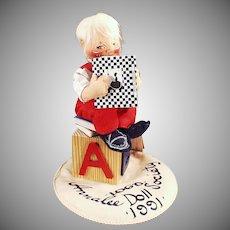 Vintage Annalee Doll - Old Doll Society Logo Doll - 1991