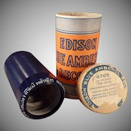 Vintage Edison Cylinder Phonograph Record – Blue Amberol – La Paloma – The Dove