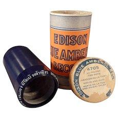 Vintage Edison Cylinder Phonograph Record – Blue Amberol – La Paloma – The Dove