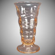 Vintage Soda Fountain Malt Glass - Pink Paden City Party Line