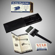 Vintage Star Safety Razor with Original Case and Box - Old Shaving Item