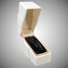 Vintage Ring Box – Unusual Narrow Shape and Size with Simple Lines