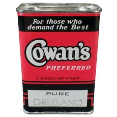 Vintage Spice Tin – Old Cowan's Spice Tin from the Sunset Coffee Company